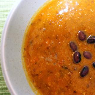 Black Bean Pumpkin Soup.