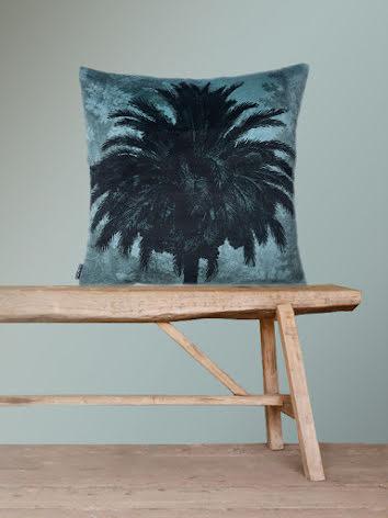Kuddfodral 50x50 Blue Palm