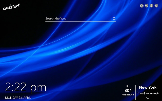 Blue HD Wallpapers New Tab Colors Theme