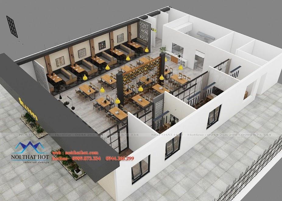 thiết kế nhà hàng dẹp, giá hợp lý 14