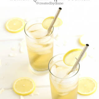 Lemon Coconut Water Cocktail.