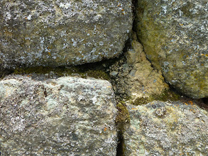 Photo: Mortar made of a local limestone mixed with llama poop