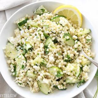 Lemony Cucumber Couscous Salad.
