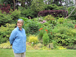 "Photo: Linda in the ""perennial borders"" room."