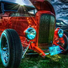 Orange Sunshine by Chris Cavallo - Transportation Automobiles ( car, orange, old car, maine, automobile, car show, hot rod, antique,  )