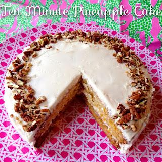 Ten Minute Pineapple Cake.