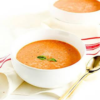 Healthy Tomato Basil Soup.