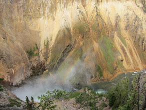Photo: Rainbow over falls below Uncle Tom's Trail