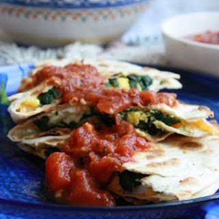 Weeknight Spinach and Egg Quesadillas