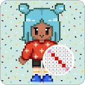 PIXEL-Toca life Pixel Art Color By Number icon