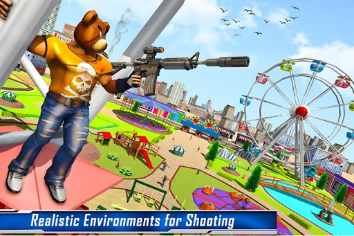 Teddy Bear Gun Strike Game: Counter Shooting Games apkmr screenshots 5