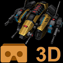 Cardboard 3D VR Space FPS game icon