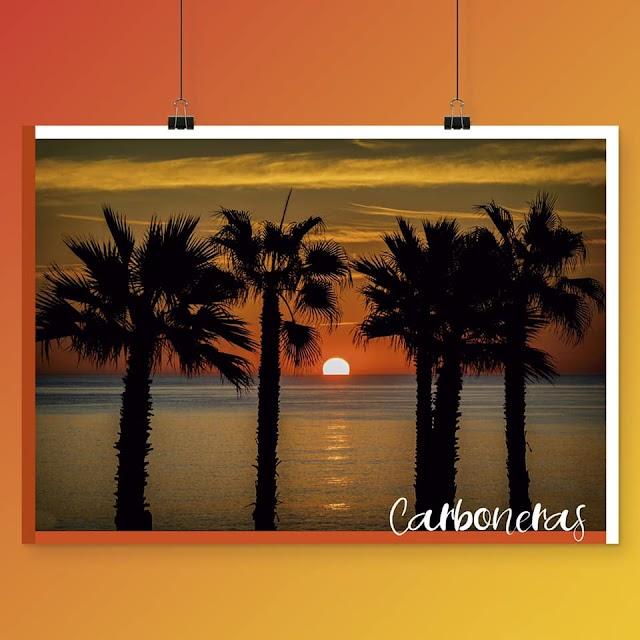 Eespectacular amanecer, de los muchos que se pueden disfrutar en Carboneras.
