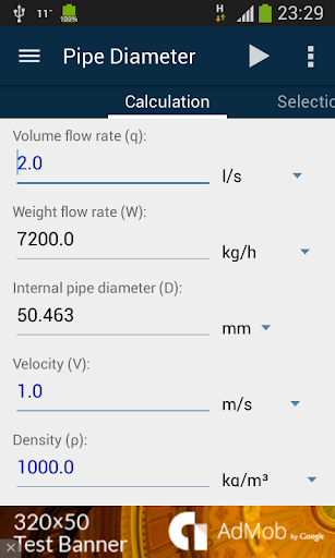 Pipe Diameter Calculator