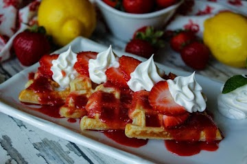 Yeast Waffle With Fresh Strawberry Rum Syrup Recipe