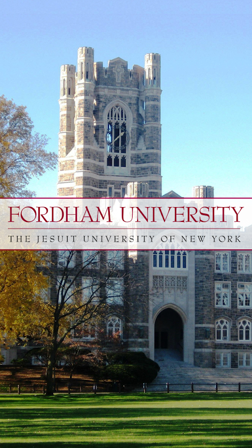 fordham college logo. fordham university mobile go- screenshot college logo