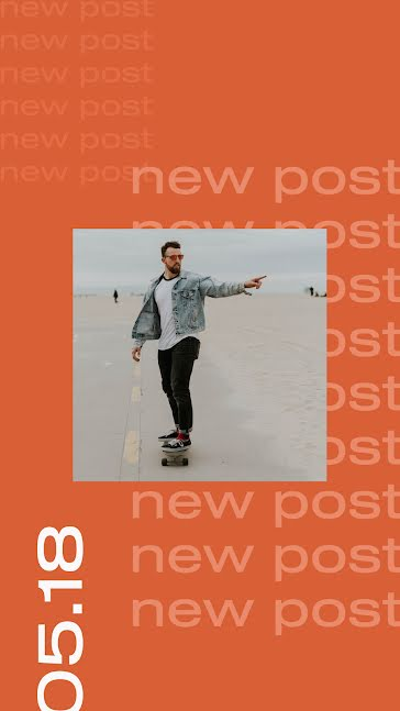 0518 New Post - Facebook Story template