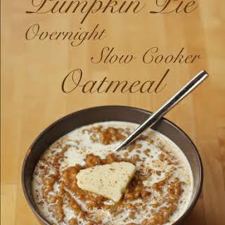 Pumpkin Pie Slow Cooker Overnight Oatmeal.