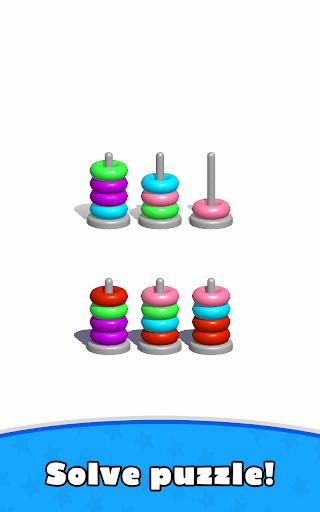 Sort Hoop Stack Color - 3D Color Sort Puzzle  screenshots 15