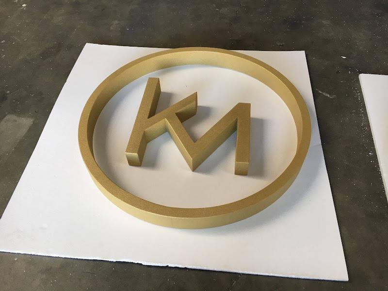 3D letters & logo's uit EPS en XPS - 3D Logo KM