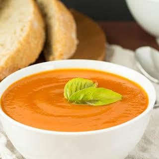 Slow Cooker Creamy Tomato Soup (with hidden veggies!).