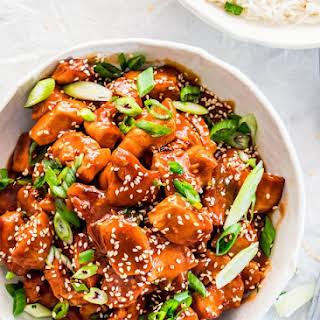 Instant Pot General Tso's Chicken.