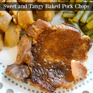 Baked Pork Chops in Sweet and Tangy Sauce.