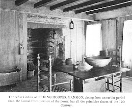 Photo: 17th c. Note than fireplaces came in many sizes. Some were as large as a small bathroom, some were quite small. Some were wide, some, like this one, were tall.