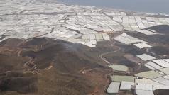 La imagen tomada desde el helicóptero del Infoca muestra el lugar del incendio.