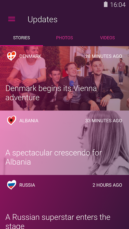 Eurovision Song Contest - screenshot