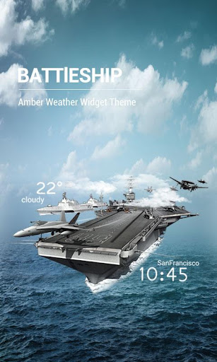 3D Battleship Weather Widget