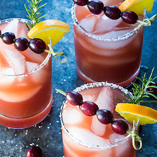 Cranberry Orange Margaritas.