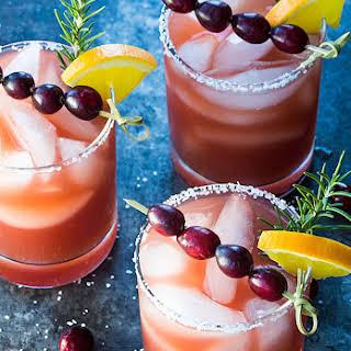 Cranberry Orange Margaritas.