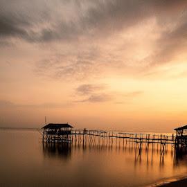 Beach Sunset by Ronz'da Dezign - Landscapes Sunsets & Sunrises