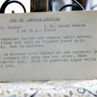 Lekvar Cookies.