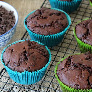 Double Chocolate and Salted Caramel Muffins.