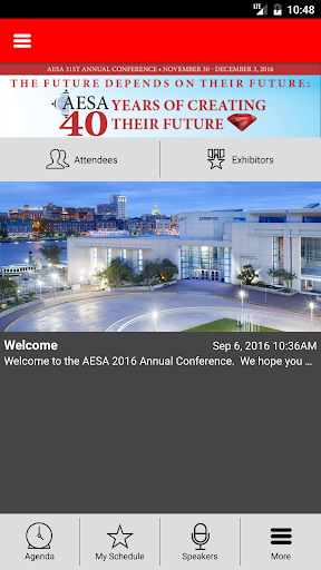 AESA 2016 Annual Conference Screenshot
