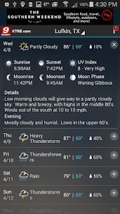 KTRE 9 StormTracker Weather- screenshot thumbnail