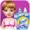 Wash laundry games for girls icon