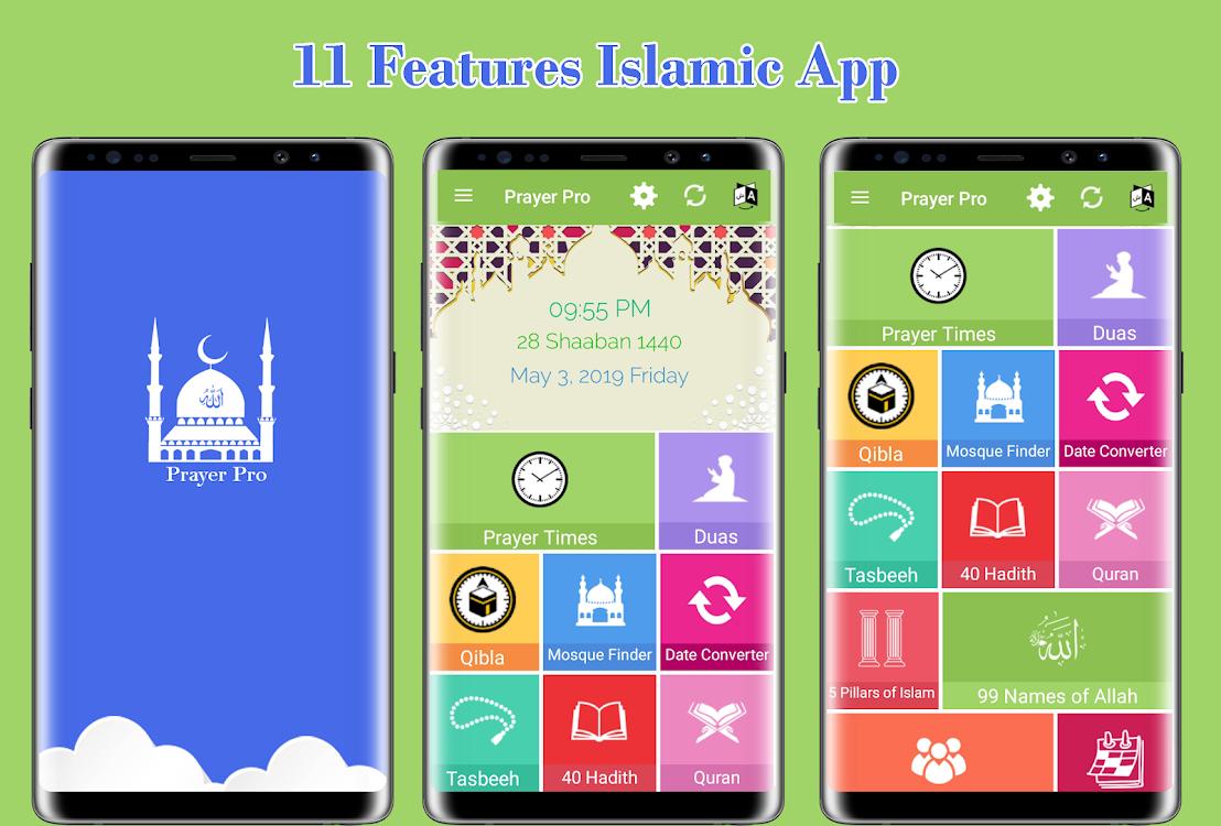 Muslim Prayer Pro with Azan, Quran & Qibla Compass