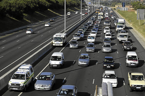 Traffic backs up on Johannesburg's N1 North. Picture: RUSSELL ROBERTS/FINANCIAL MAIL