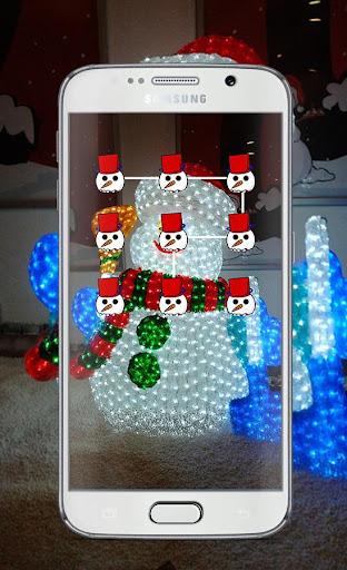 Snowman Pattern Lock Screen