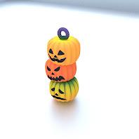 Pumpkin strap ornament