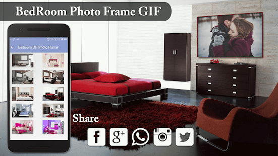 Bedroom GIF Photo Frame - náhled