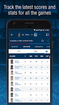 NBA App APK screenshot thumbnail 3