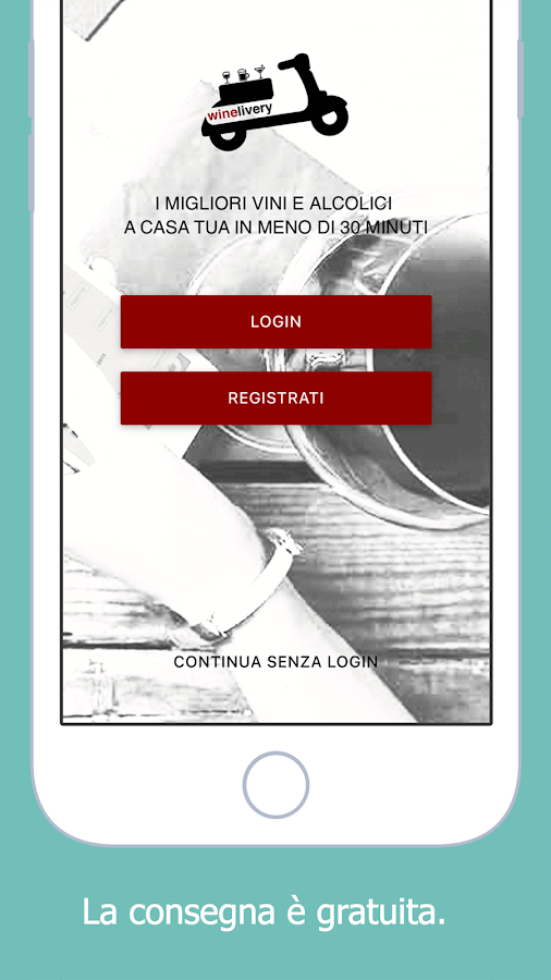 Winelivery- screenshot
