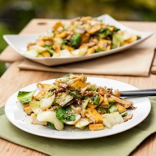 Tofu, Mushroom and Bok Choy Stir Fry Recipe