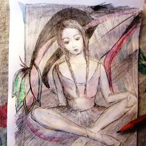 by Vesna Disich - Drawing All Drawing ( girl, serbia, vesna disic )