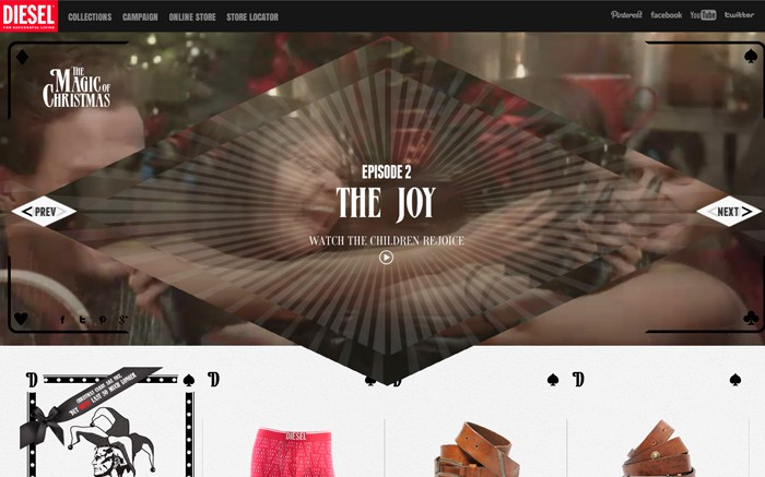 Photo: Site of the Day 1 January 2013 http://www.awwwards.com/web-design-awards/diesel-magic-of-christmas