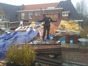 Photo: Amsterdam dakwerk slopen, opruimen, wat nieuws maken, opruimen, klant blij!